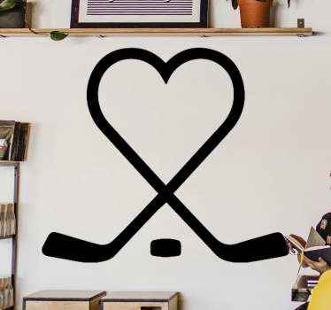 Increíble vinilo juvenil de hockey para que decores tu casa de forma original con un diseño exclusivo.  Elige el color ¡Envío exprés!