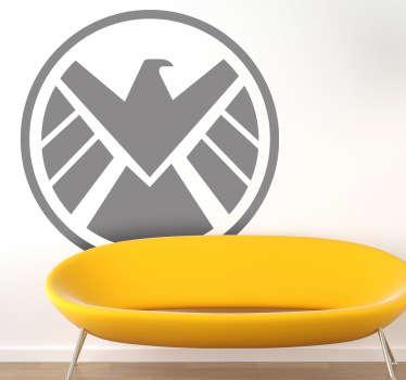 Stickers représentant le logo des Agents of S.H.I.E.L.D de la série télé de la chaîne américaine ABC.