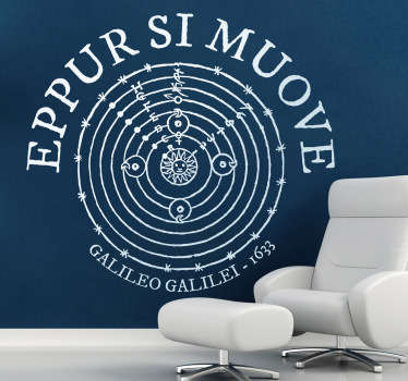 Sticker decorativo eppur si muove