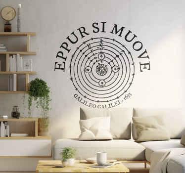 Eppur Si Muove Latin Text Sticker