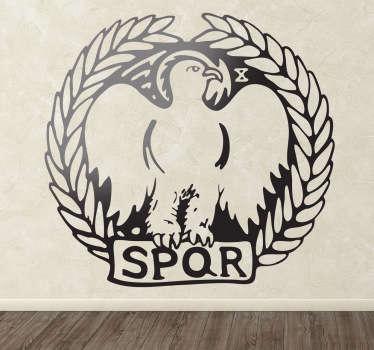 Stencil muro logo legione romana