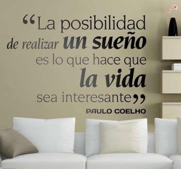 Vinilo decorativo Paulo Coelho