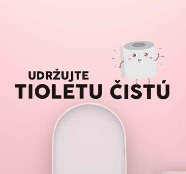 úžasná textová samolepka na stenu, ktorou ozdobíte steny svojej toalety alebo kúpeľne. Osobné nálepky sú k dispozícii tu.