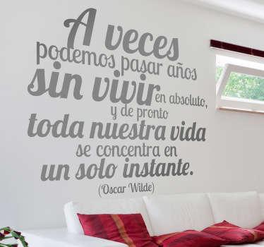 Vinilo decorativo texto Oscar Wilde