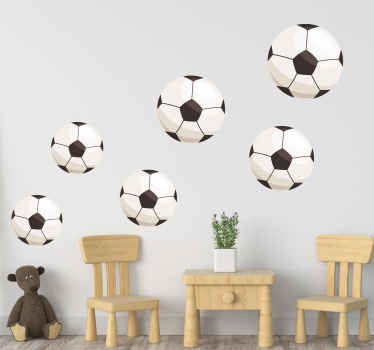 Stickers with illustrations of soccer balls perfect for decorating any surface you want to decorate with this design, perfect for you.