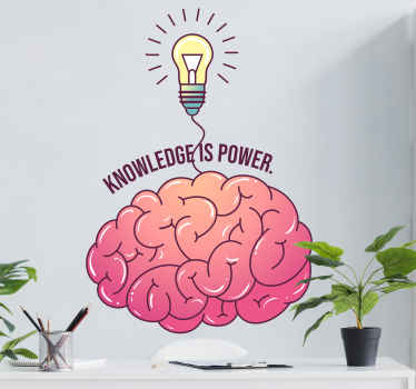 Why not take a look at your very own motivational brain wallsticker every day and be filled with new smart ideas? Order this awesome design today!