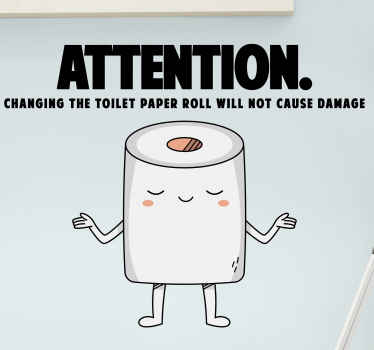 What can be better than being able to clean while it is funny at the same time? This toilet wallsticker design will help you with just that! Buy now!