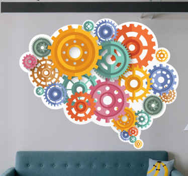 What is better than being able to look at a cool and original brain thinking wall sticker in your home and feel like your brain is working faster!