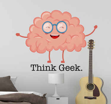 If your brain has been working really slow lately, take a look at this geek brain wall sticker that will almost guaranteed make your brain work again!