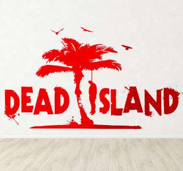 Wandaufkleber mit dem Original-Logo des Aktion und Survival-Horror-Videospiel Dead Island! Dekoidee.