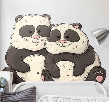 Twee grote panda's muursticker voor al die pandaliefhebbers. Geniet van uw nieuwe decoratie door de jouwe nu te kopen. Wereldwijde levering!