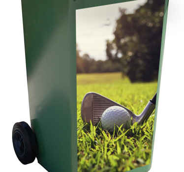 If you're tired of having to take out the garbage because it is boring and smells, then why not order this golf dumbster sticker and make it more fun!