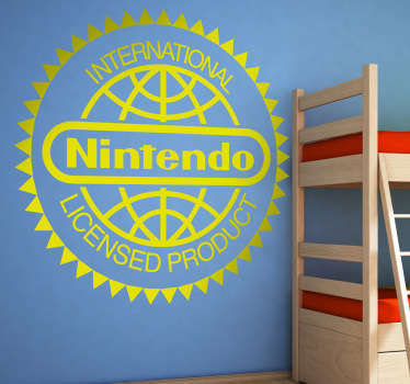 Sticker decorativo logo licenza Nintendo