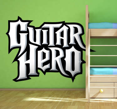 Guitar Hero Video Game Sticker