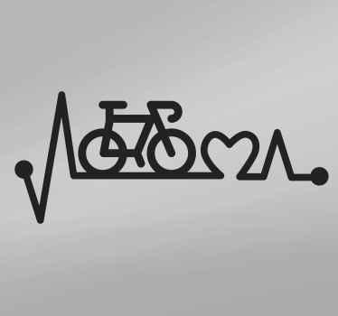 Sticker para bicicleta con latido del corazón: hermoso diseño para agregar un toque encantador al cuadro de su bicicleta ¡Envío exprés a domicilio!