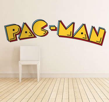 Vinilo decorativo logo Pacman