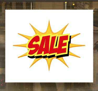 Original sale sticker with the design of a comic book that will let everyone know your store has sales. Squared white background!