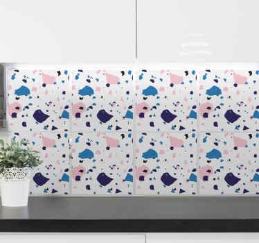 この防水タイルステッカーは、キッチンをモダンに飾るのに理想的な方法です。防泡ビニールを使用し、非常に長持ちします。