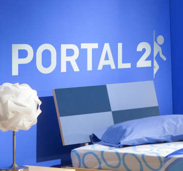 Sticker of the popular and addictive video game Portal 2. Fantastic decal to decorate your room!