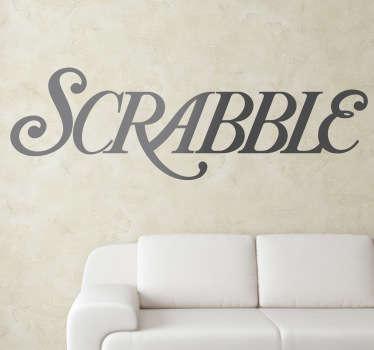 Sticker decorativo Scrabble