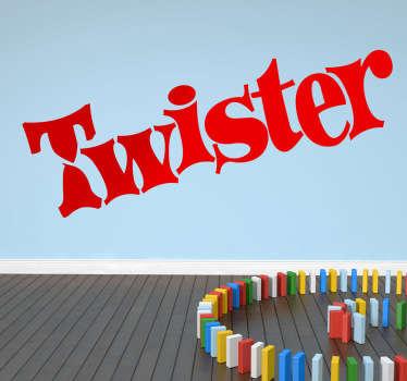 Vinilo decorativo Twister