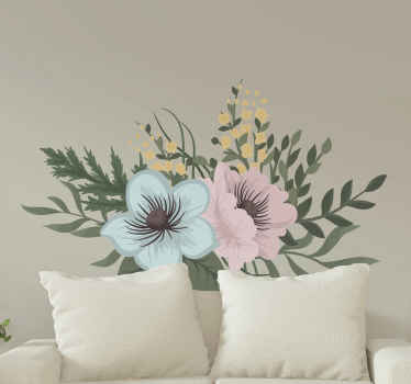Pretty decorative blossom flower wall decal for bedroom as headboard. Change the atmosphere on your room with this cute design.