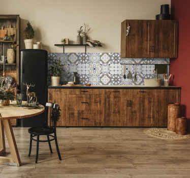 Couvrez la surface du mur de votre salle de bain ou de votre cuisine avec ce fantastique adhesif amiaz. Fait de sticker de qualité