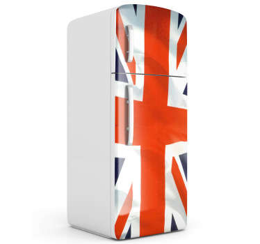 Fridge Stickers - Great Britain inspired design. Union Jack flag to cover your fridge. Very simple to apply and remove. Choose your size.