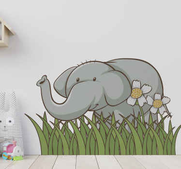 Why not give the walls of your childrens room something unique and upgrade those walls with this elephant garden sticker. Order it now!