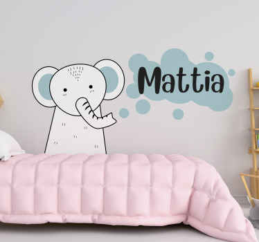 Perché non dai ai tuoi bambini la decorazione del secolo con questo simpatico adesivo personalizzato per bambini con animali. Ordinalo per tuo figlio oggi!
