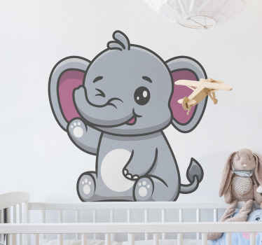 Why not give your children something cute and unique with this elephant kids wallsticker. Order it today and have it in just a few days!