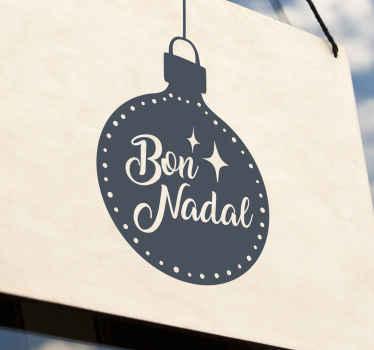 ¡Un vinilo navideño de adorno con texto y estrellas para esta temporada festiva! Material extremadamente duradero y muy resistente.