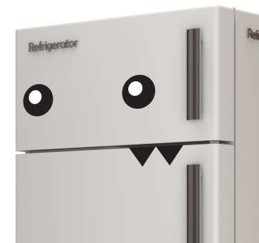 A superb design of a strange creature from our collection of funny wall stickers to decorate your fridge!