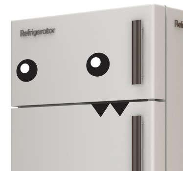 Adesivo decorativo mostro frigo