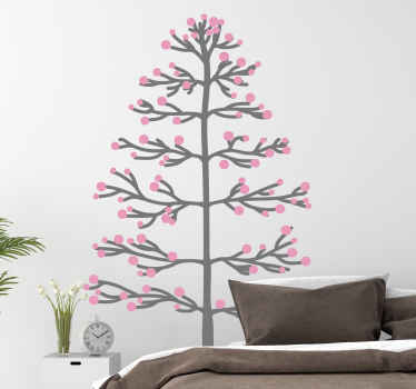 A wonderful seasonal tree wall decal perfect for the walls of your home. Amazing long-lasting and anti-bubble materials used.
