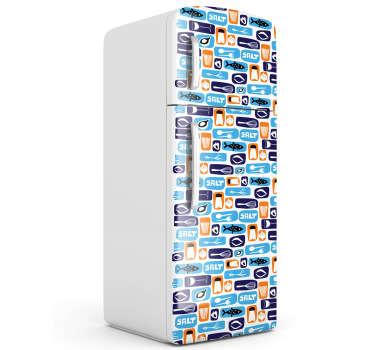 Sticker frigo motifs cuisine