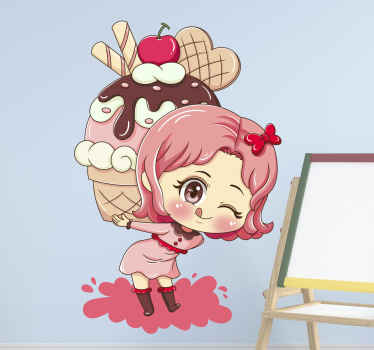 Give your kitchen walls a new, fun and unique look today with this anime cupcake sticker. Taste the best cupcake ever in just a few days. Order now!