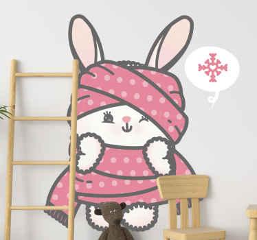Pourquoi ne pas donner aux murs de la chambre de vos enfants ou de votre propre chambre un look cool avec ce adhesif lapin anime!
