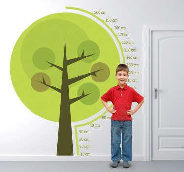 Sticker kinderen groeimeter boom