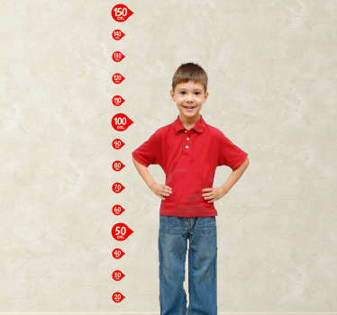 Keep track of your child's growth with this original height chart decal. A kids wall sticker to measure how fast your child grows. A great decal to decorate your children's bedroom and create a fun atmosphere in their room.