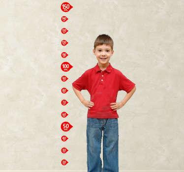 Sticker kinderen groeimeter