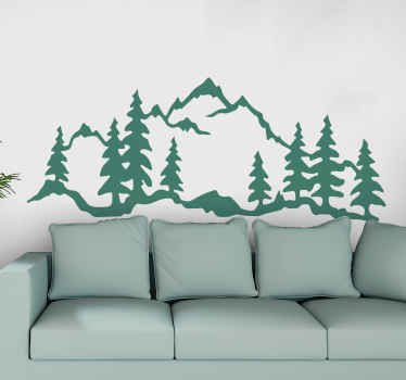 If you have ever been to a mountainous landscape and enjoy the presence and peaceful aura it presents you with then you would love this nature sticker