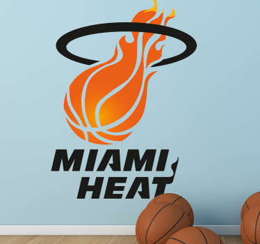 Muursticker Miami Heat