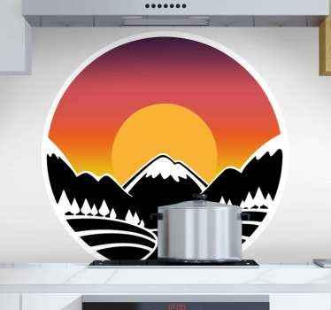 Dale hoy a las habitaciones de tu hermosa casa un aspecto aún más hermoso con este vinilo naturaleza con paisaje de montañas ¡Envío exprés!