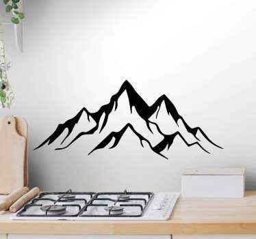美しい装飾、自然として世界で最高のものを自分に与えてください!この風景の山のウォールステッカーはあなたの家で素晴らしく見えるでしょう!