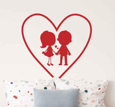 Dale un poco de amor a la persona más importante de tu vida hoy con este vinilo de amor para parejas ¡Envío exprés a domicilio!
