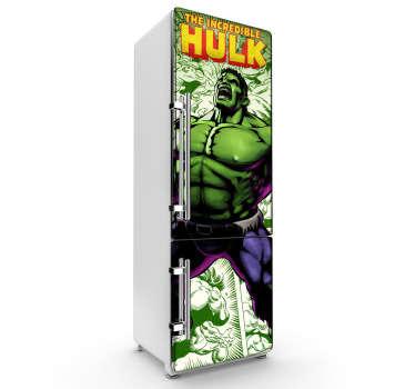 Vinil decorativo Hulk heladera