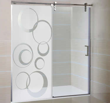 Circle pattern design from our collection of modern wall stickers, shower sticker that provides privacy while still letting in lots of natural light.