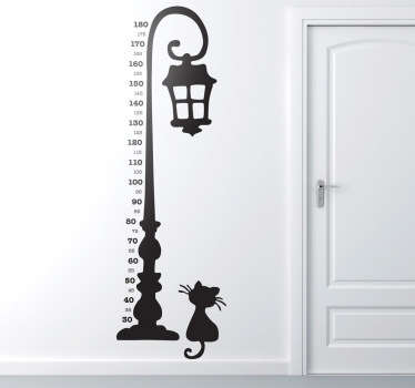 Vinilo decorativo medidor estatura faro