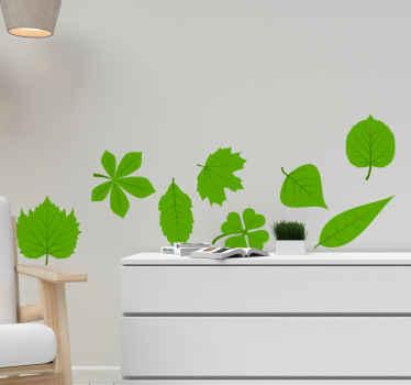 Dai alla tua casa un aspetto naturale maturo come oggi con questo bellissimo adesivo da parete con foglie naturali. Resistente e durevole.